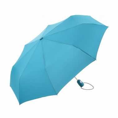 Automatische paraplu lichtblauw