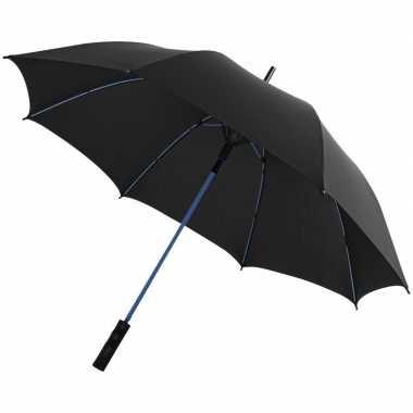 Automatische zwart/blauwe stormparaplu