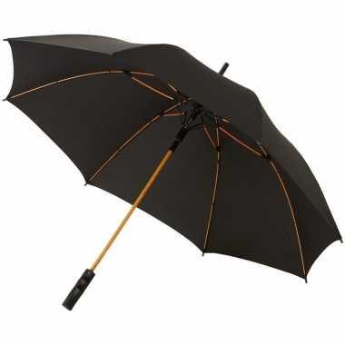 Automatische zwart/oranje stormparaplu