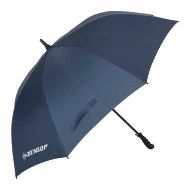 Blauwe automatische paraplu doorsnede