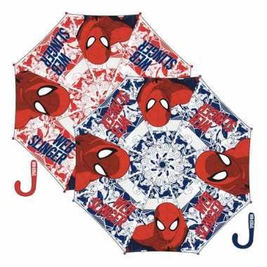 Blauwe kinder paraplu spiderman