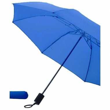 Blauwe paraplu uitklapbaar hoes