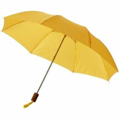 Compacte paraplu geel