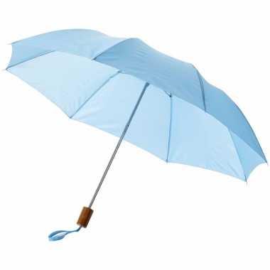 Compacte paraplu lichtblauw