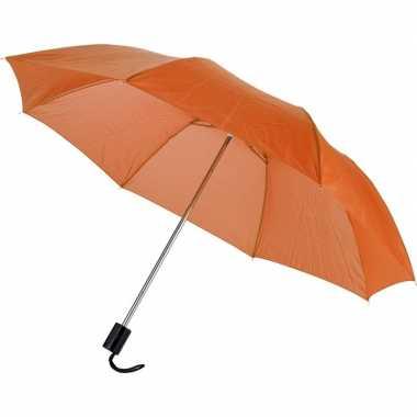 Compacte paraplu oranje