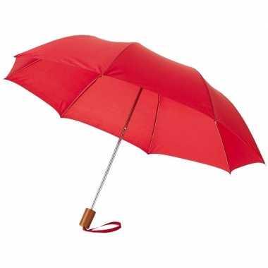 Compacte paraplu rood