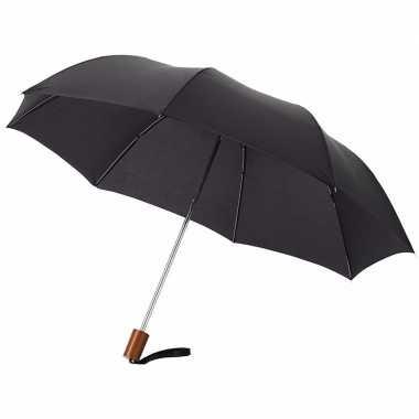 Compacte paraplu zwart