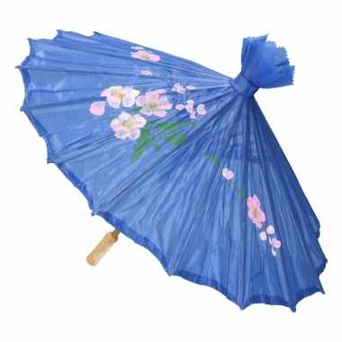 Decoratie parasol china blauw