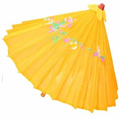 Decoratie parasol china donker oranje