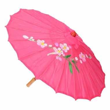 Decoratie parasol china fuchsia 10089735