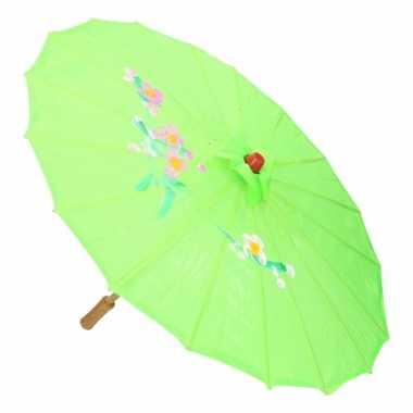 Decoratie parasol china groen 10089728