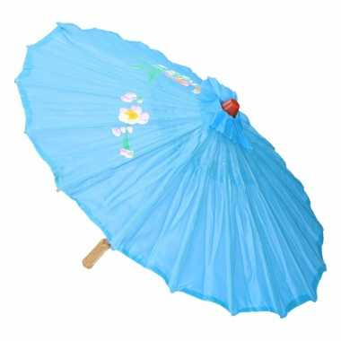 Decoratie parasol china licht blauw