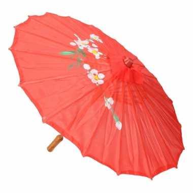 Decoratie parasol china rood 10089730