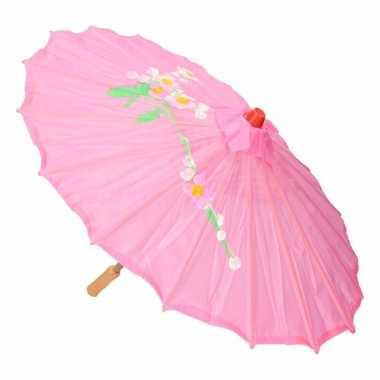 Decoratie parasol china roze