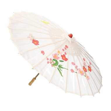 Decoratie parasol china wit
