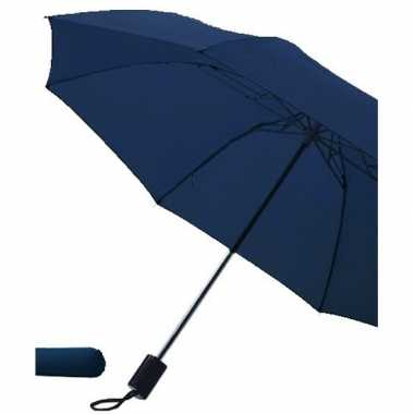 Donkerblauwe paraplu uitklapbaar hoes