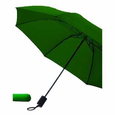 Donkergroene paraplu uitklapbaar hoes