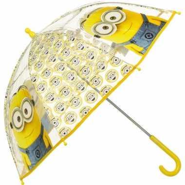Gele kinder paraplu minion tim