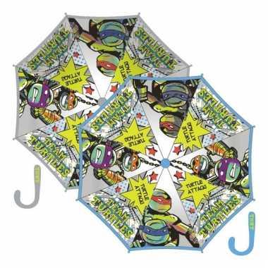 Grijze kinderparaplu ninja turtles