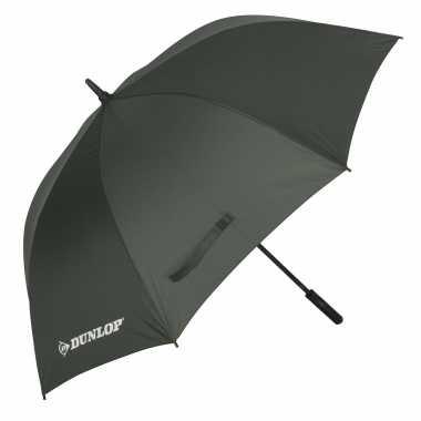 Groene automatische paraplu doorsnede