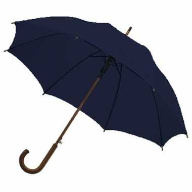 Grote luxe paraplu donkerblauw diameter