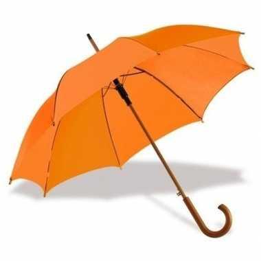 Grote luxe paraplu oranje diameter