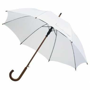 Grote luxe paraplu wit diameter