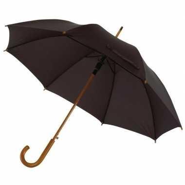 Grote luxe paraplu zwart diameter