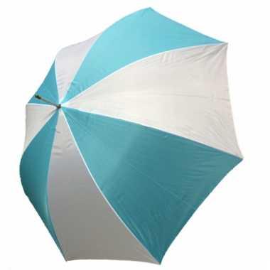 Grote paraplu blauw wit