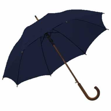 Grote paraplu navy/donkerblauw