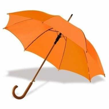 Grote paraplu oranje
