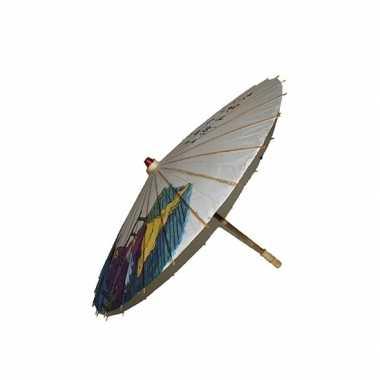 Houten paraplu japanse tekens