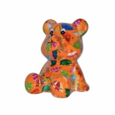 Kado spaarpot beer oranje paraplus
