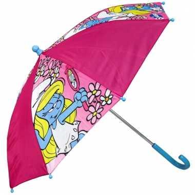 Kinder paraplu smurfin