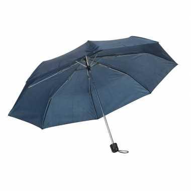 Kleine uitvouwbare paraplu donkerblauw