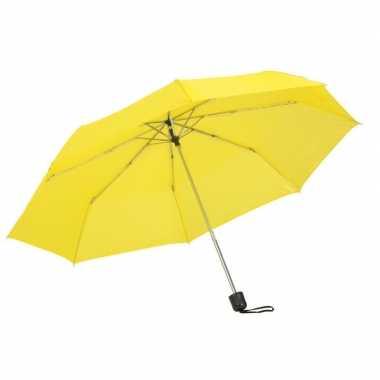 Kleine uitvouwbare paraplu geel