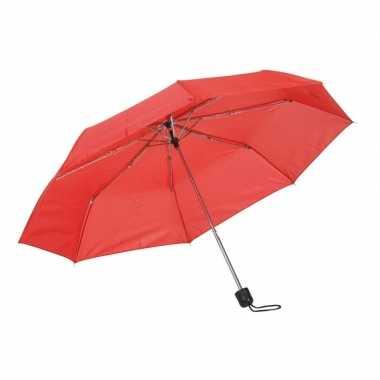 Kleine uitvouwbare paraplu rood