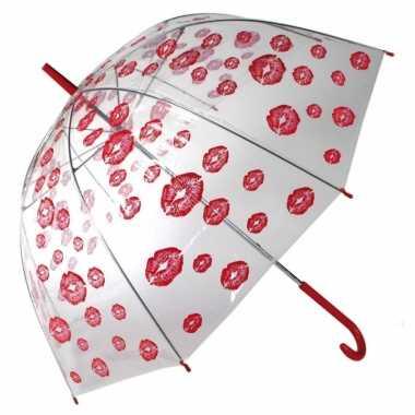 Liefdes paraplu kusjes