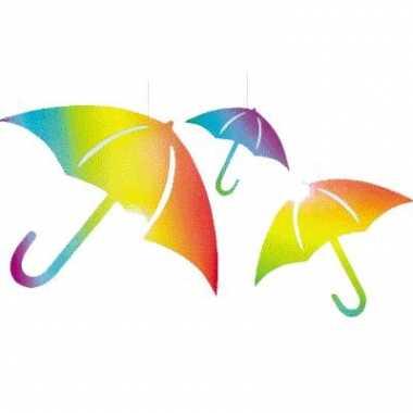 Papieren decoratie paraplu s