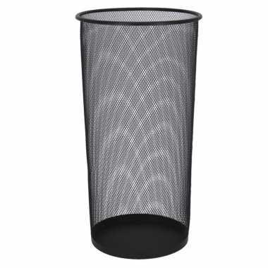 Paraplubak/parapluhouder zwart metaal