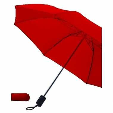 Rode paraplu uitklapbaar hoes