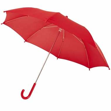 Rode storm paraplu kinderen doorsnede stormproof