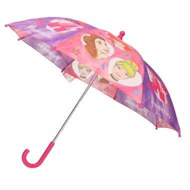 Roze kinder paraplu disney prinsessen