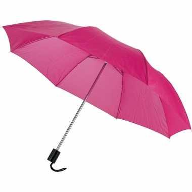 Set stuks compacte paraplu roze