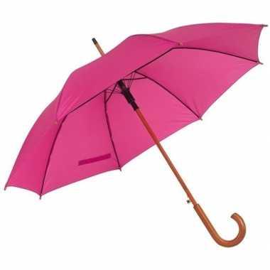 Set stuks grote paraplu roze