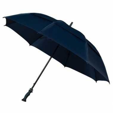 Stormparaplu extra sterk donkerblauw