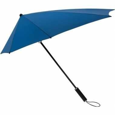 Windproof storm paraplu kobaltblauw