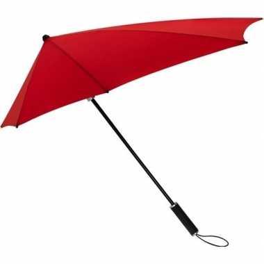 Windproof storm paraplu rood