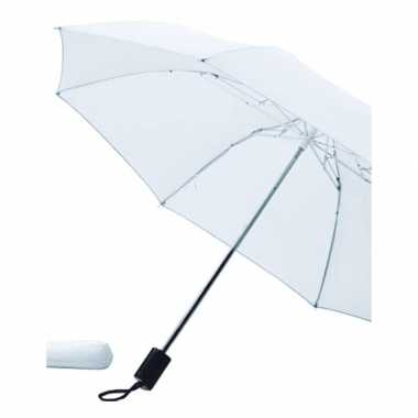 Witte paraplu uitklapbaar hoes