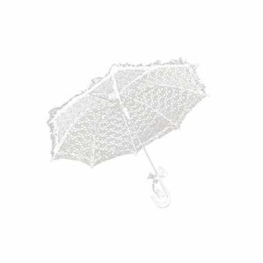 Witte vinage paraplu